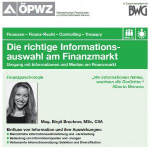 Richtig umgehen mit der Informationsflut am Finanzmarkt